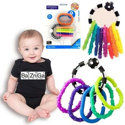 Lots of 9 Click Clank Rings Baby Kids Children Stroller Crib Teether Toy Links