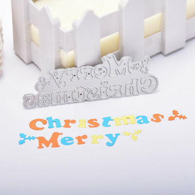 NEW Merry Christmas Cutting Dies Stencil Scrapbook Craft Embossing Supplies Gift