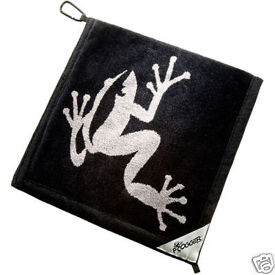 Authentic Frogger Amphibian Golf Towel Black + Champ Tees