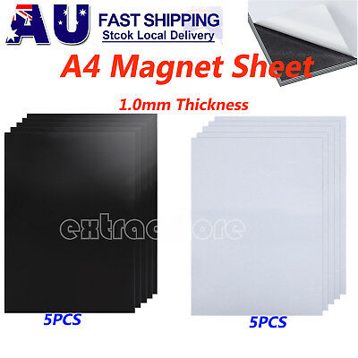10xA4 1.0mm Magnetic Magnet Sheets Magnet&Self Adhesive Thickness Craft Material