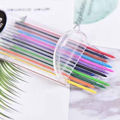 2.0mm 2B Colored Pencil Lead 2mm Mechanical Clutch Refill Holder 12 Colors Set &