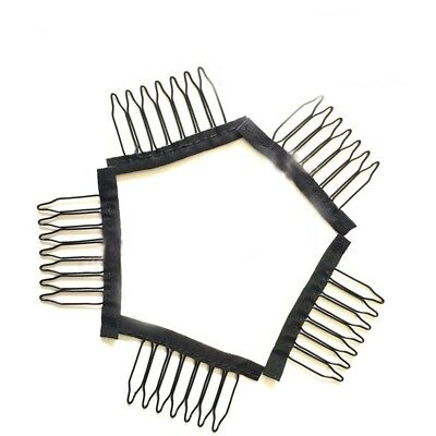 10Pcs 7 Teeth Hair Lace Wigs Insert Steel Combs Wig Cap Clips Wigs Accessories.