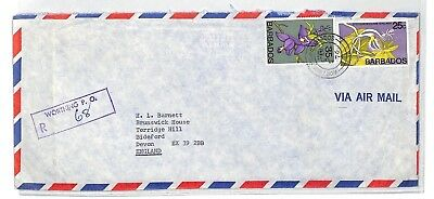 BT87 1976 Barbados Worthing Commercial Air Mail Cover {samwells}PTS