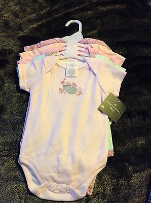 laura ashley baby grows bodysuits BNWT short sleeved age 3/6months girls vintage
