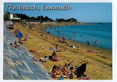 A0652aps UK Exmouth Beach postcard