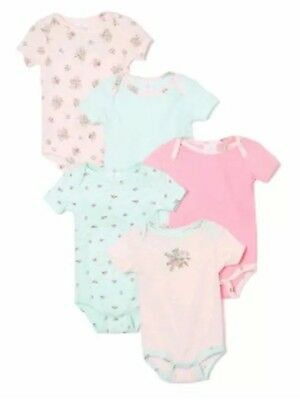 laura ashley baby grows bodysuits nwt short sleeved age Newborn girls vintage