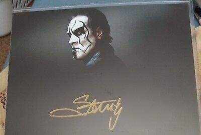 Wwe/wcw Autograph Signed Sting 8X10 100% Authentic