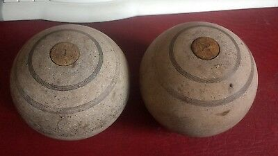 Rare pair of bussey london bowls