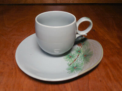 Canonsburg USA Willard George PINE Set of 3 Cup & Saucer Sets 6 pcs Signed