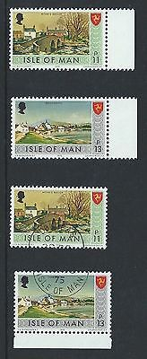 Isle of Man IOM Definitive New Values 1975 One 1 MNH and 1 Fine Used FU Set