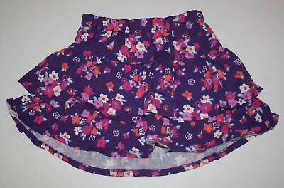 New Gymboree Floral Print Tiered Ruffle Skirt Skort Size 7 Year NWT Island Girl