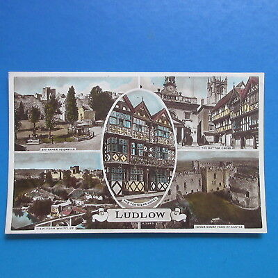 Old Postcard of  Views of Ludlow.