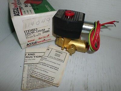 "**NEW IN BOX** ASCO EF8345G3 4-Way SOLENOID VALVE 1/4"" 120Vac **FAST SHIPPING**"