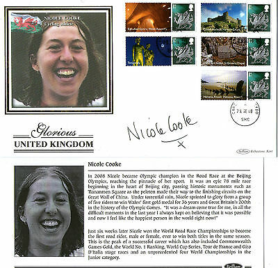 29 Sept 2008 Glorious Uk Wales Signed Nicole Cooke Benham First Day Cover Shs