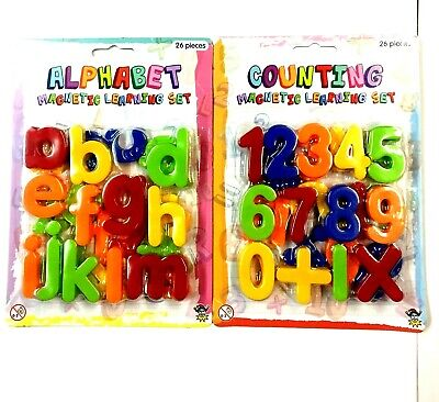 Magnetic Numbers and Letters Learning Toy Fridge Magnets