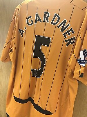 Match Worn Premier League Anthony Gardner  Hull City Shirt 09/10 COA