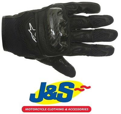 Alpinestars S-MX 2 Air Carbon Glove Black Summer Short Motorcycle Glove SMX J&S
