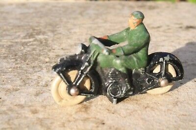 DINKY 37a CIVILIAN MOTORCYCLIST   good condition 1940s