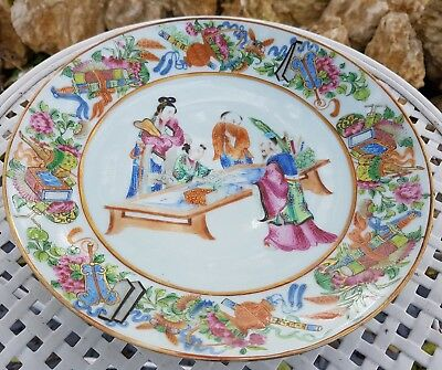 Ancienne Assiette Canton Chine China 19eme 19th 21cms  antique chinese plate