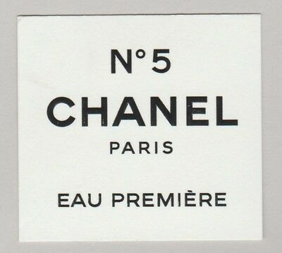 Carte publicitaire  + patch -  advertising card  -  N°5 de Chanel