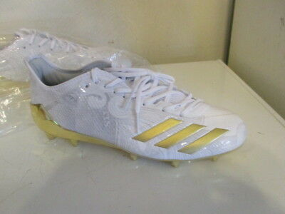 NEW Adidas Adizero 5 Star 6.0 metallic gold money design football cleats sz 10