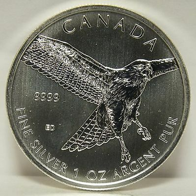 Red Tailed Hawk 2015 Canada $5 Coin .9999 Silver 1 oz - Birds of Prey - MA128