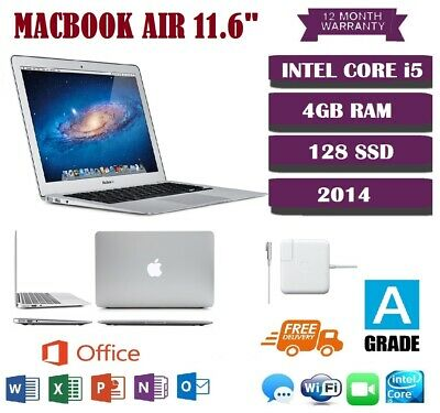 "Apple MacBook Air 11.6"" - Core i5 1.4GHz - 4GB RAM - 128 SSD - 12 MONTH Warranty"