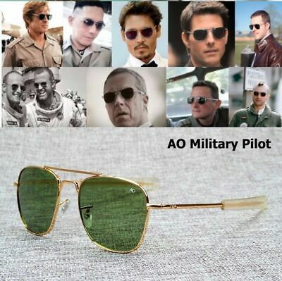 New Fashion Army MILITARY AO Pilot 54mm Sunglasses Brand American Optical  Glass f1e4d7fc5c12