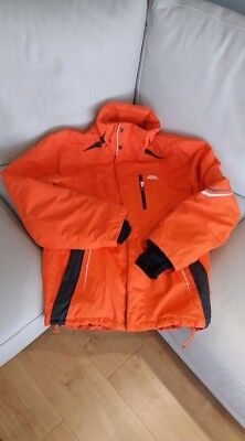 Mens No Fear Padded Orange Ski Jacket Medium
