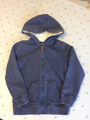Girls Navy Fat Face Hoody Aged 8-9