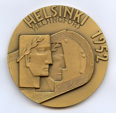 Finland Kauko Rasanen Official Olympic Participation Medal Helsinki 1952 !!!