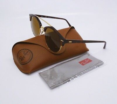 Ray-Ban 4346 990/33 Sunglasses Clubround Tortoise Frame/Brown Lenses 51-19-145