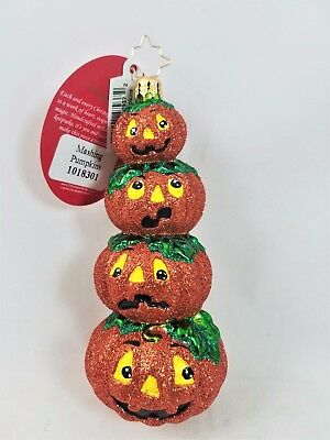 RADKO Mashing Pumpkins Jack O Lantern Halloween Ornament Made Poland