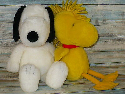 "SNOOPY & WOODSTOCK Set Plush Stuffed Animal Kohl's Cares for Kids 15"" tall"