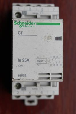 Schneider Electric 15962 CT Four 4 Pole 25a NO Contactor Switch 240v Coil