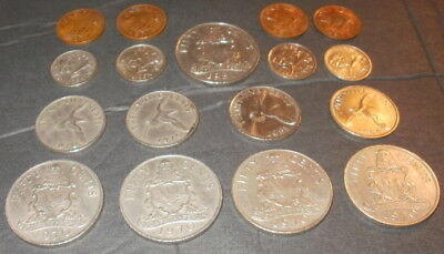 BERMUDA~17 Coin Lot~ 1,10,25 & 50 Cents~ 1970, 1971, 1973, 1974, 1981, 1984