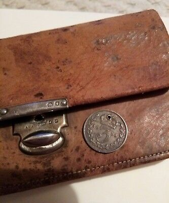 Antique Small Purse With Hallmarked Silver Clasp