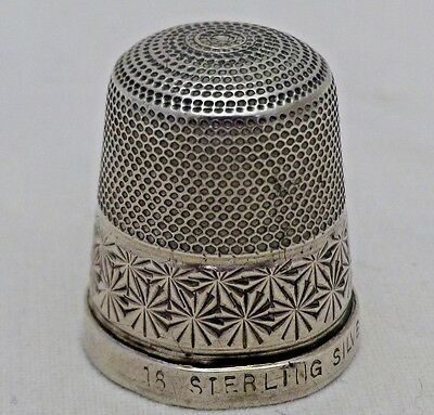 Vintage Solid Sterling Silver Sewing Thimble 16 Needlework
