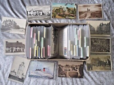 330 English Topographical Postcards 1900s-1950s.