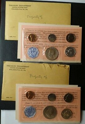 Two 1963 United States Proof Sets of Coins