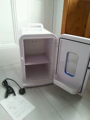 Mini white hot and cold fridge, uni, bedroom man cave student christmas gift