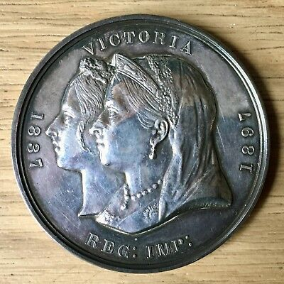 Silver Queen Victoria 1837 - 1897 - 60 Years Diamond Jubilee Commonwealth Medal