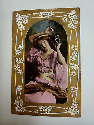 Edwardian Lady or Actress Postcard. Vintage. 1906. Used.