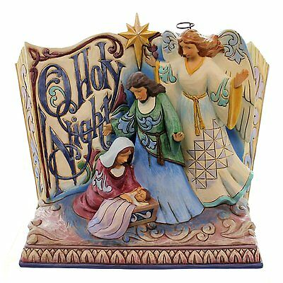 O Holy Night Songbook Nativity figurine JIM SHORE Home Decor New Christmas
