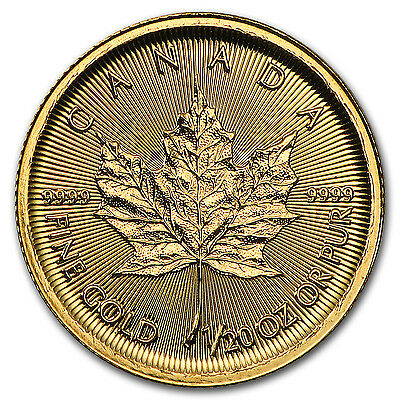 2017 Canada 1/20 oz Gold Maple Leaf BU - SKU #102791