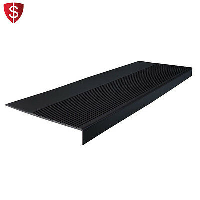 Outdoor Rubber Stair Treads Cover Protector Non Slip Black Indoor Step Floor