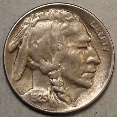 1925-S Buffalo Nickel, Choice Almost Uncirculated, WELL STRUCK - Discounted