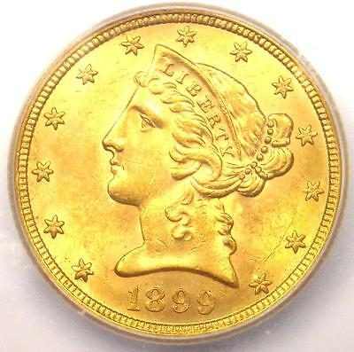 1899-S Liberty Gold Half Eagle $5 Coin - Certified ICG MS64 - $1,720 Value!