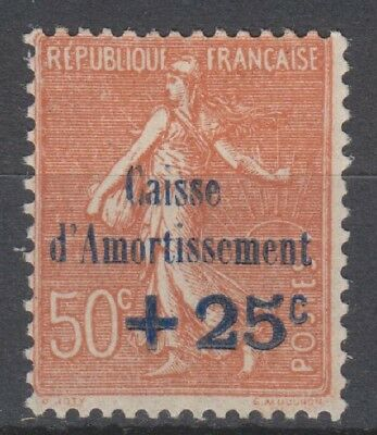 SUPERBE N°250 CAISSE AMORTISSEMENT NEUF GOMME* / MH Cote + 35 €
