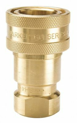 PARKER Coupler Body,1/2-14,1/2 In. Body,Brass, BH4-60